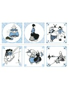 Set of6 Dutch Tiles Coasters