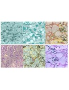 Set of 6 Marbled Style Tiles