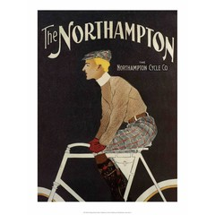 Vintage Bicycle Poster, The Northampton