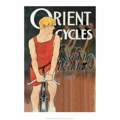 Vintage Bicycle Poster, Orient