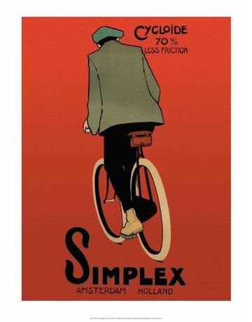Vintage Bicycle Poster, Simplex, Amsterdam