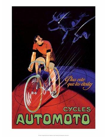 Vintage Bicycle Poster, Automoto