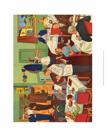 Vintage Classroom Poster - Restaurant