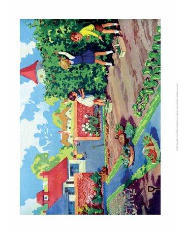 Vintage Classroom Poster - Vegetable Garden