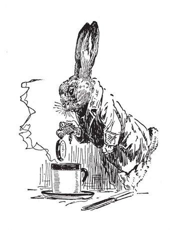 White Rabbit from Alice in Wonderland Magnet