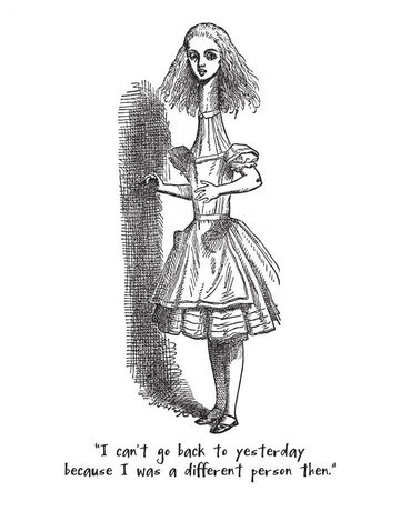 Alice in Wonderland with text Magnet