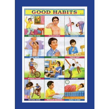Good Habits, Indian Poster, Magnet