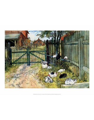 Catch Publishing Carl Larsson, Chickens in the Yard, 1904