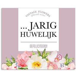 Vintage Flower Cards …jarig huwelijk gefeliciteerd!