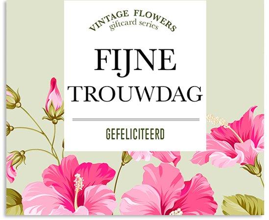 Vintage Flowers Midikaartje Voor De Bloemisterij Paper Art