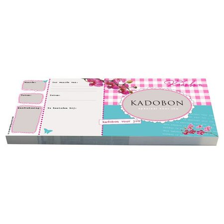 Cheque Kadobonnen - Turqoise & Pink