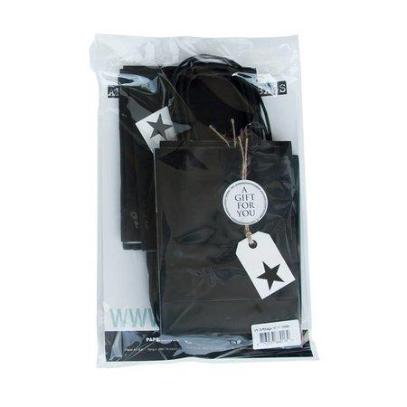 Present Kadotasje - Kraft zwart - 10 stuks