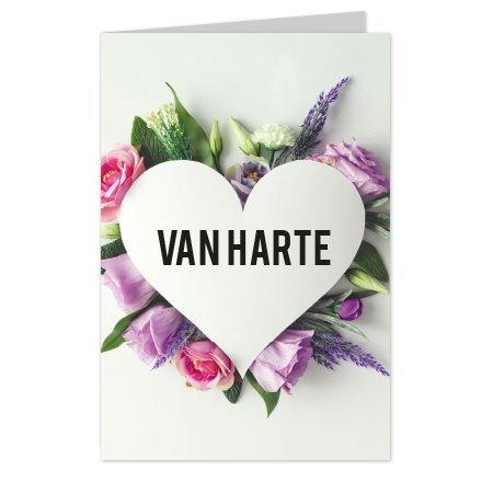wenskaarten Wenskaarten Casa collection - Van harte