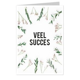 wenskaarten Veel succes