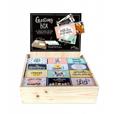 Greeting Box houten display - Vulling B