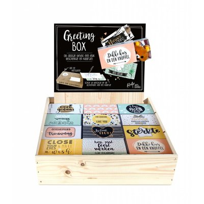 Greeting Box houten display - Vulling C
