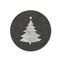 Kerstboompje sticker