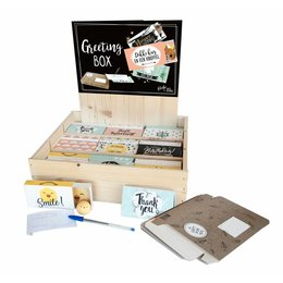 Greeting Box wooden display - English