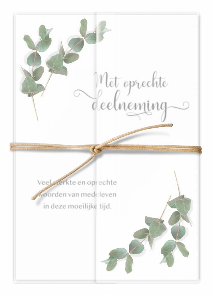 Luxueuze Rouwkaarten Sympathie Paper Art