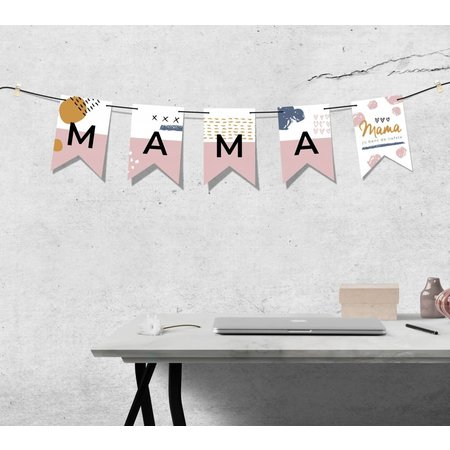 Vlaggenlijn - Mama jij bent de liefste