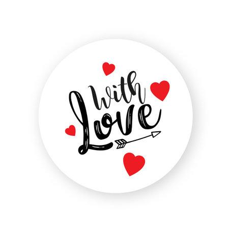 Valentijn Etiket- With Love
