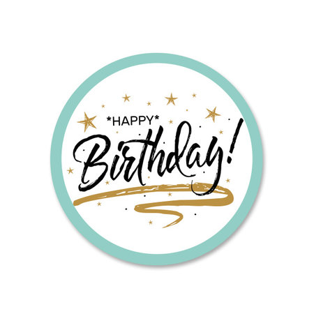 Happy birthday Etiket
