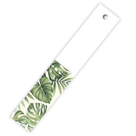 Blanco / green leaves - Aloha label lang