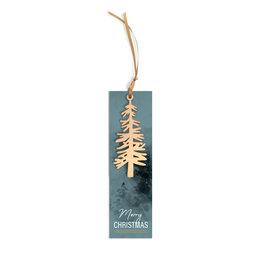Label Lang met houten boom