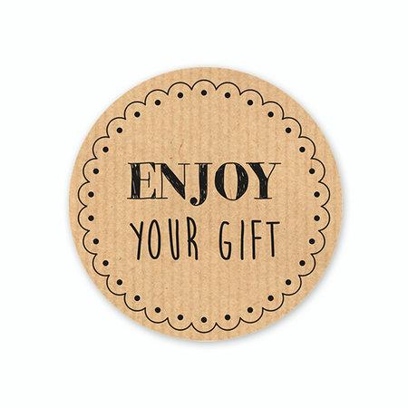 Enjoy your gift etiket
