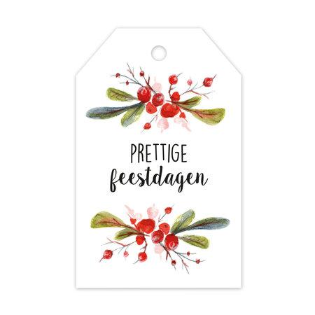 Label enkel - Prettige kerstdagen