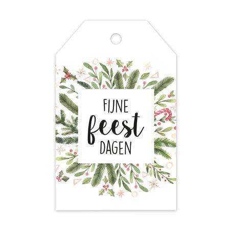 Label enkel - Fijne feestdagen