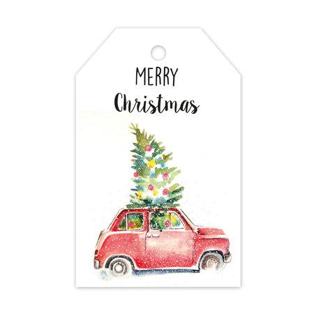 Label enkel - Merry Christmas