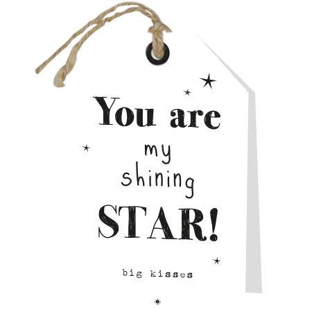 Wenskaarten Rebel30 - You are my shining star