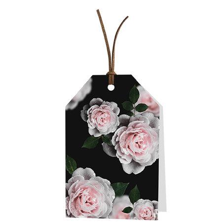 Wenskaarten Golden Age - Blanco: roze rozen