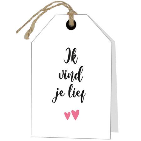 Wenskaarten Rebel30 - Ik vind je lief
