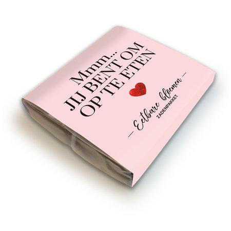 Delicious Love - Mmm... Jij bent om op te eten - Zadenpakket eetbare bloemen - Pink