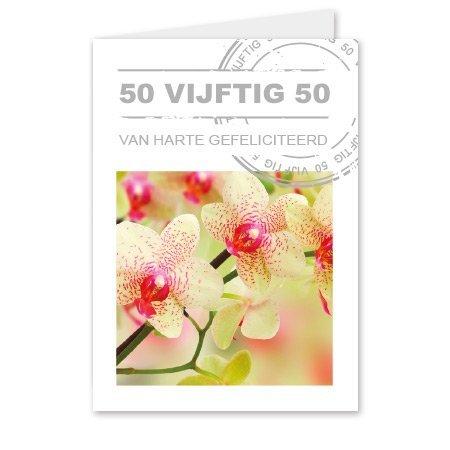 Living Home  Bloemen- & Kadokaartjes Living home - 50 vijftig 50