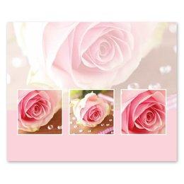 Romance Roze roos parels