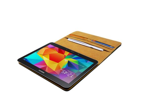 Samsung Galaxy Tab 4 - 10.1 (SM-T530, SM-T531, SM-T535 ). Genuine leather Book case bag of high quality. Protective case with magnetic closure.