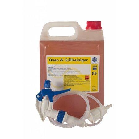 Oven- en Grillreiniger Gell 10 liter (2 x 5 liter) + sprayer