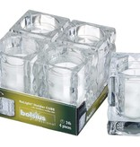 Bolsius Professional Refillhouder Cube Transparant