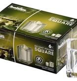 Bolsius Professional Refillhouder Square Transparant