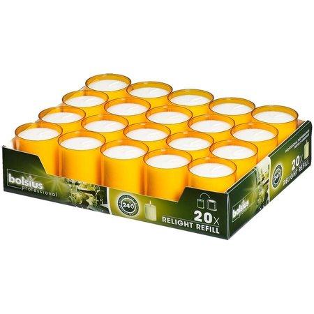 Bolsius Professional Refills Relight Oranje (80 stuks)