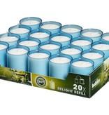 Bolsius Professional Refills Relight Aqua Blauw (80 stuks)