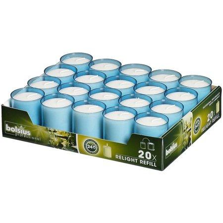 Bolsius Professional Relight Refills Aqua ( 80 stück)