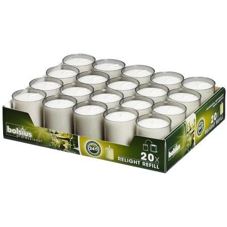 Bolsius Professional Relight Refills Grau (80 Stück)