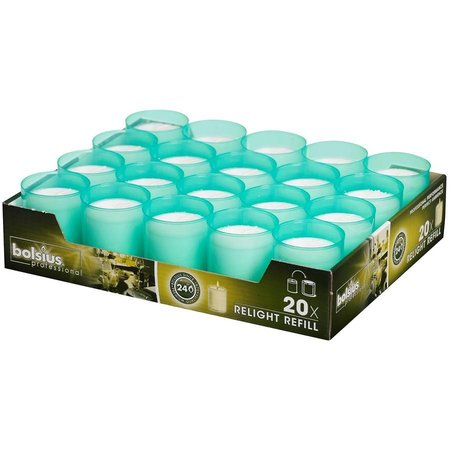 Bolsius Professional Relight Refills Meergrün (80 stück)