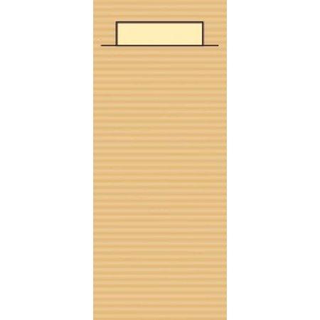 """EUROPOCHETTE® Bestecktaschen """"Kraft"""" Sand, 600 Stück"""