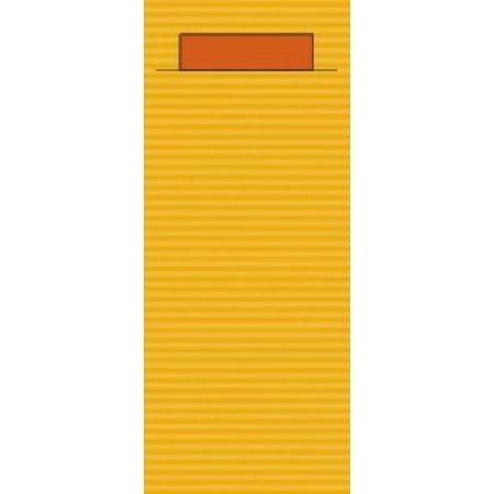 """EUROPOCHETTE® Bestecktaschen """"Kraft"""" Ocker, 600 Stück"""