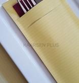 "EUROPOCHETTE® Bestekzakjes ""Kraft"" Geel 600 stuks"